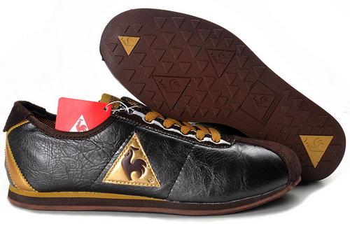 hot sale online 52de0 94723 Le Coq Sportif Mens Black Gold Shoes Clearance