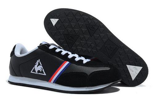new products 9ae03 ce8ee Le Coq Sportif Mens Black White Colour Bar Shoes Czech