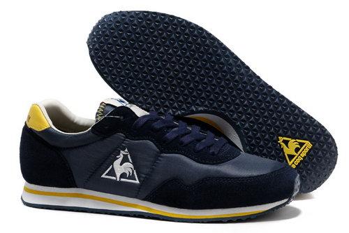 cheap for discount da19e 539eb Le Coq Sportif Womens   Mens (unisex) Dark Blue Yellow Shoes Review