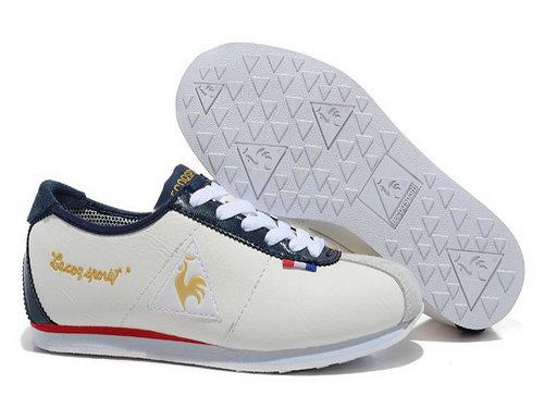 new concept 57445 a5e92 Le Coq Sportif Womens   Mens (unisex) White Blue Gold Shoes Wholesale
